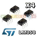 LM358 Industry-Standard Dual Operational Amplifiers DIL8 ( 4pcs )