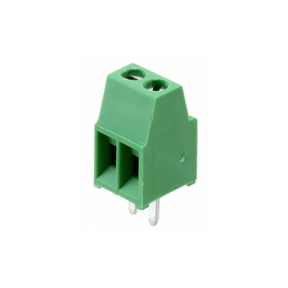 Connettore 2 poli passo 2,54mm - Fissaggio Vite, 8A 120V AWG 18-26 ( Terminal Blocks 100mils )