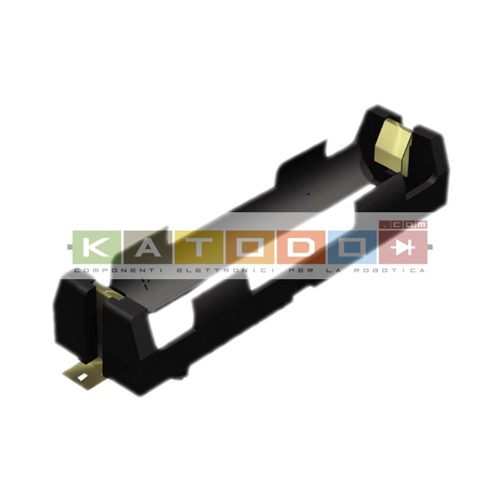 Battery Holder (Open) 18650 1 Cell SMD (SMT) Tab - Keystone Electronics 1042