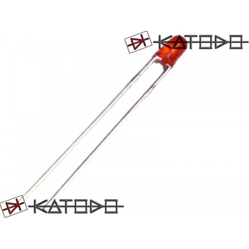( 20 pcs ) LED ROSSO 2mA diametro 3mm L-7104ID