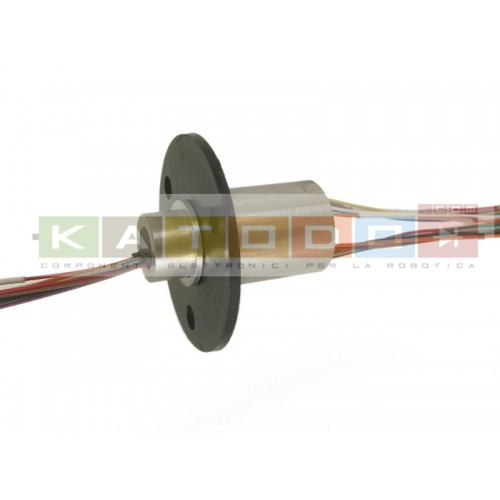 Slip Ring 12ch 300rpm 2A Stainless Steel - Flange Rotation Joint OD 16mm