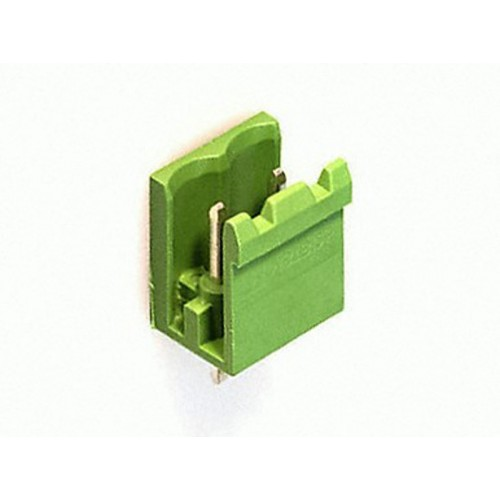 2 pos 5,00 mm pitch Pluggable Terminal Blocks COMBICON Header FEMMINA PCB VERTICALE - 300 V 15A - MSTBV 2,5/ 2-G - 1753437