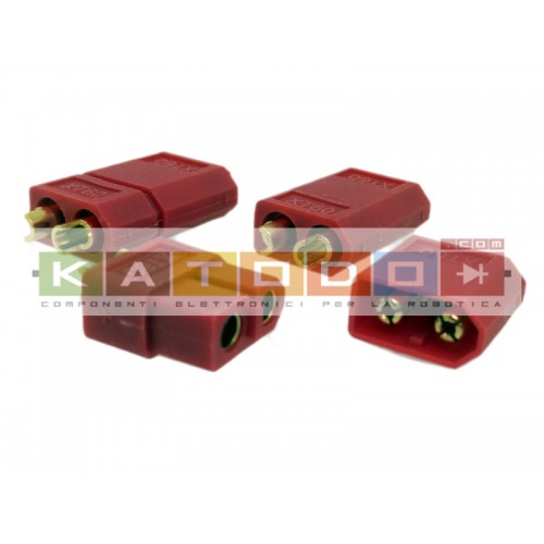 Kit 3+3 pcs XT60 RED Connecter Male / Female  - XT-60 XT 60 for RC Lipo Battery ( 3 pair  )