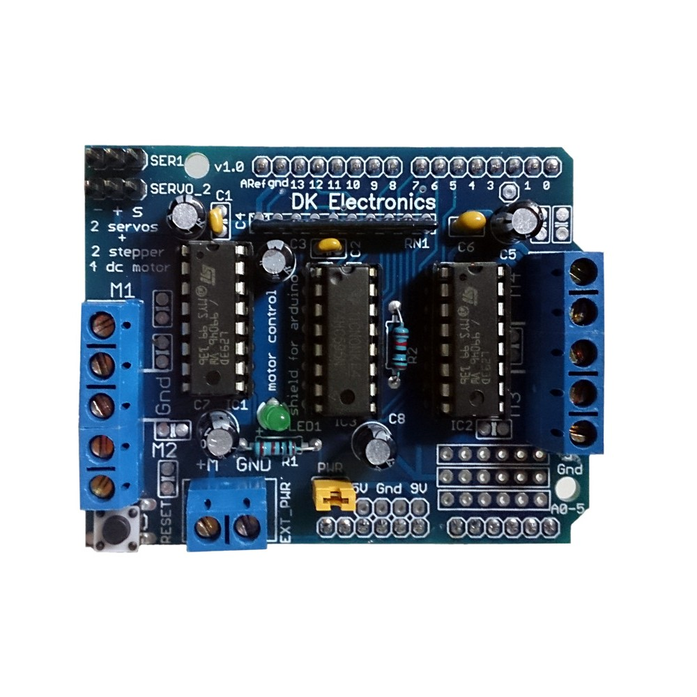 L293D based Motor Drive Shield for Arduino