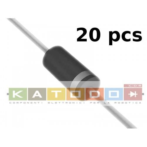 ( 20 pcs ) P6KE12CA - 16.7V Clamp 36.5A Ipp Tvs Diode Through Hole DO-204AC (DO-15) - 20 items
