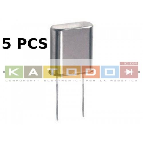 ( 5 pcs ) QUARZO 24.000 MHz HC-49U P-5,00 mm H-12mm - 5 Pezzi