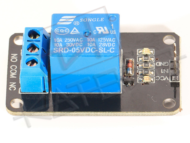 Modulo Relè 1 Canale 10A per Arduino - Side