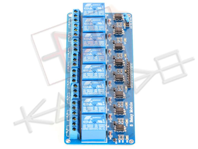 Modulo Relè 8 Canali 10A per Arduino - Side