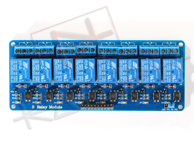 Modulo Relè 8 Canali 10A per Arduino - Top