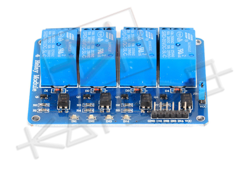 Modulo Relè 4 Canali 10A per Arduino - Front