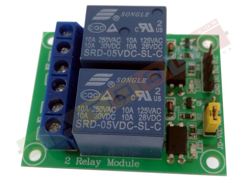 Modulo Relè 2 Canali 10A per Arduino - Top