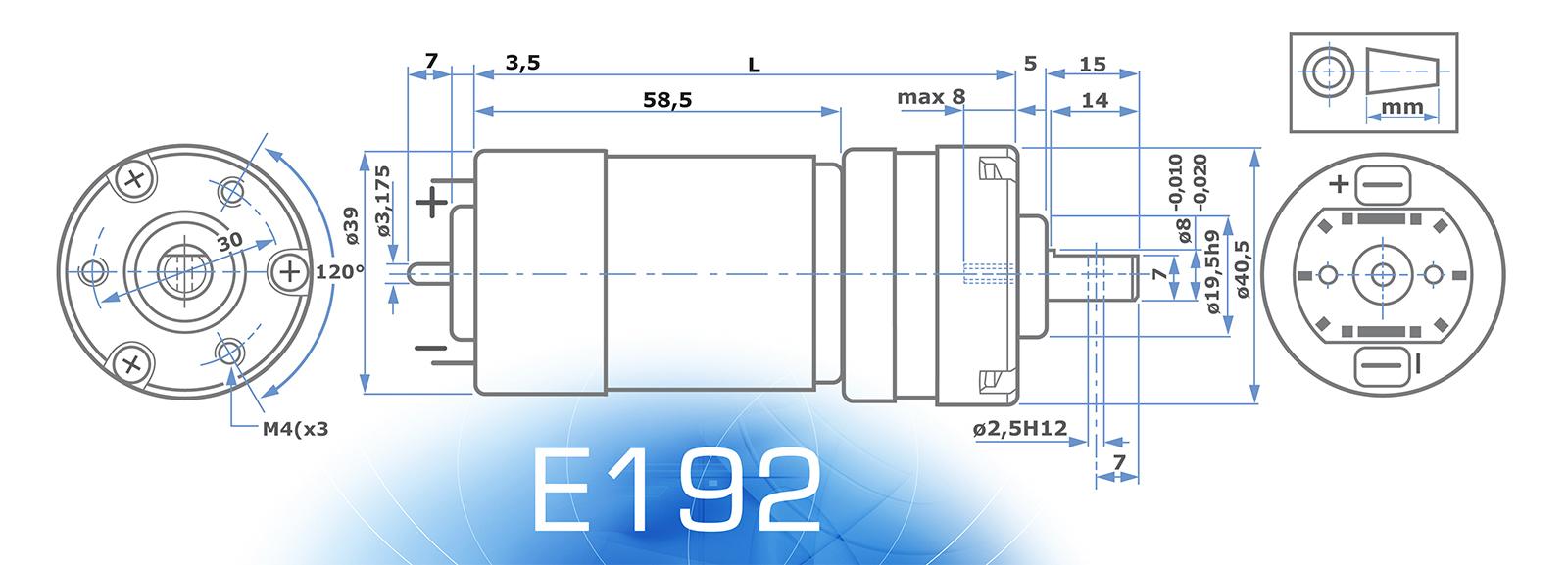 E192 Motor without ENCODER