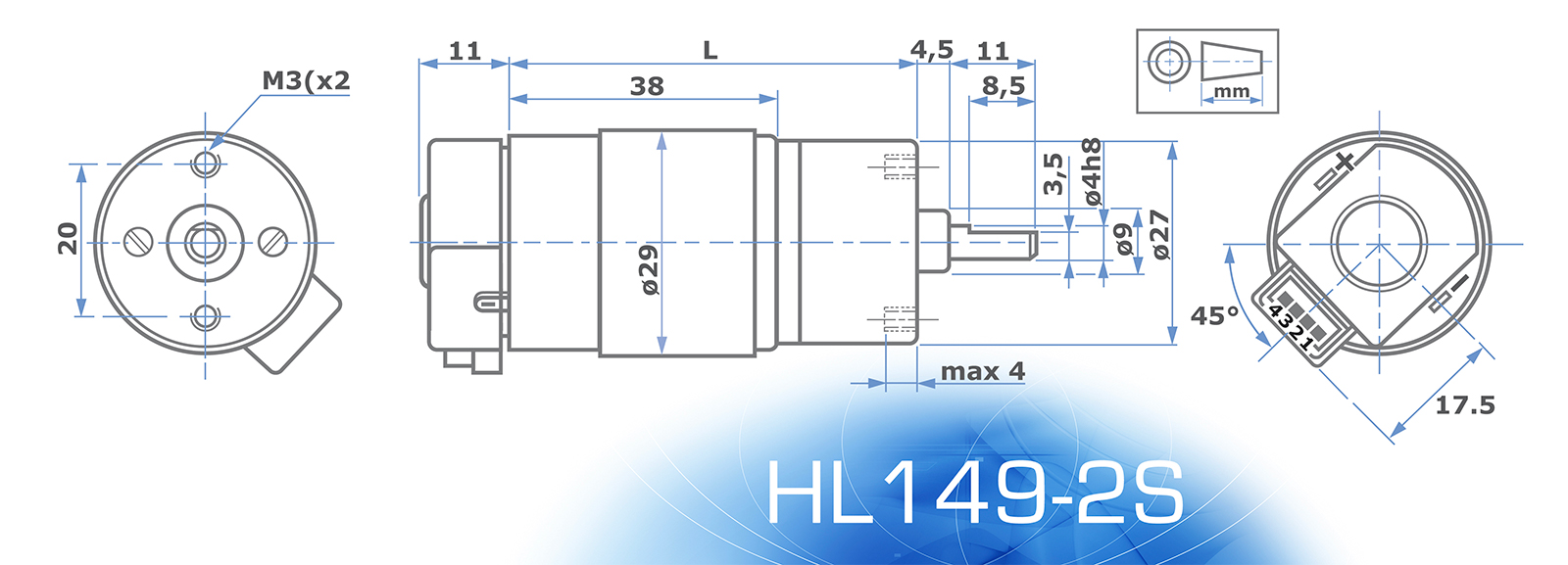 HL149 - Technical Drawing - Encoder