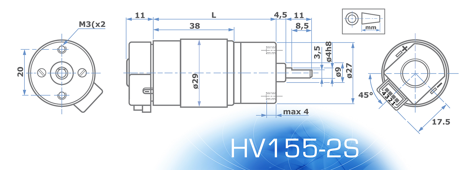 HV155Motor with ENCODER
